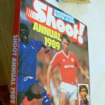 Football Shoot soccer  annual 1989 good unclipped price example spine intact